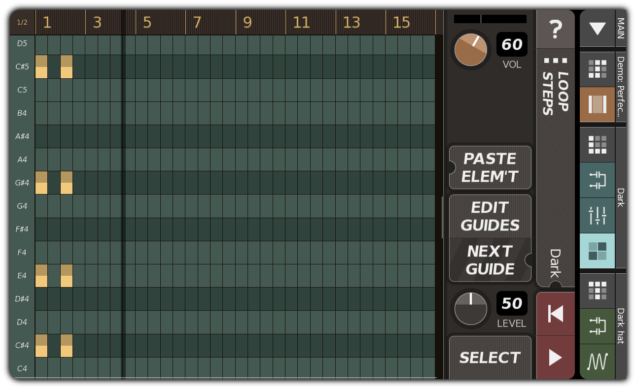 Synth pattern with chords
